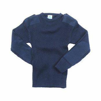 Wool Pullover Navy Blue Heavy Weight Naval Issue Crew Round Neck Jumper, New