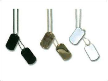 dog tags. Army style Dog tags