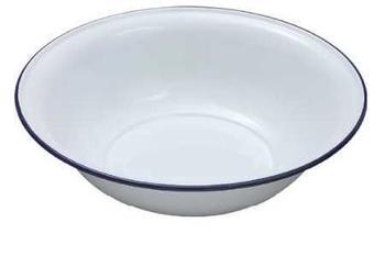Laundry Bowl : Enamel Wash Bowl, Large 36cm Classic White Enamel Wash Bowl