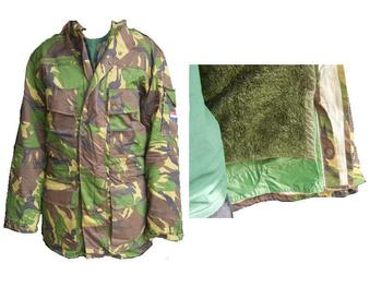 Dutch Goretex Lined Woodland DPM Jacket with Removable Fleece And goretex lining