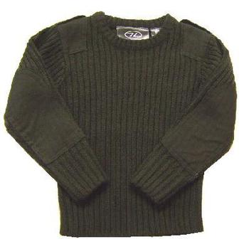 Childrens Kids Olive Green Military Army Style jumper In stock and ready to post.