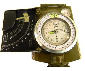 Military Style Clinopmeter Compass