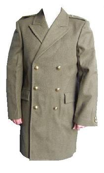 khaki great coat