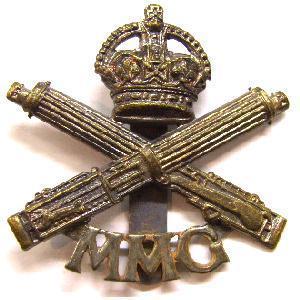 Mmg cap badge for Crown motor inn gun hill