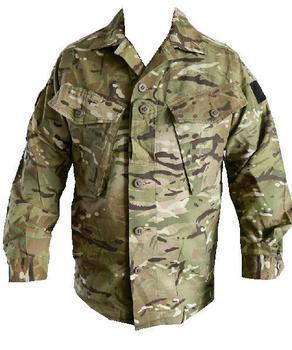 MTP MultiCam Tropical Combat Shirt ~ Button fronted British Military Issue ~ Used Good