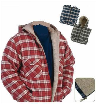 Padded hoody shirt for Zip front flannel shirt