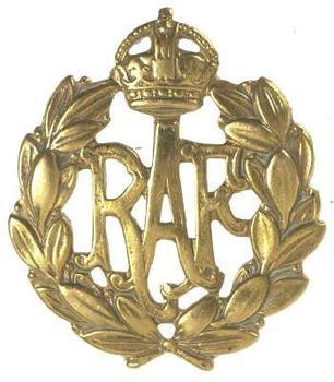 Kings Crown RAF Cap Badge