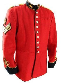Scarlet Ceremonial Dress Tunic Red Royal Engineers Guards Tunic, Used