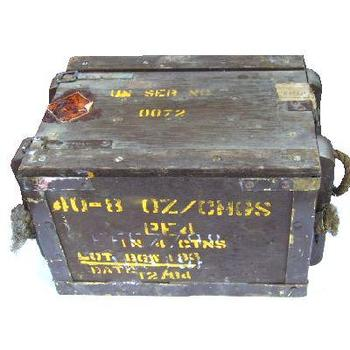 wood ammunition box
