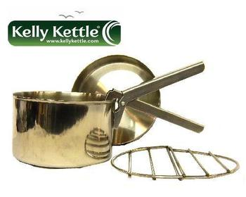 Kelly Kettle Stainless Steel Large Size cookset, Fits base camp and Scout models