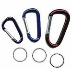 Pack of 3 Karabiner / Carabiner Keyrings