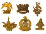 RN Division War Raised Cap badges