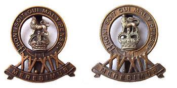 BRITISH ARMY CAP BADGE THE KING/'S ROYAL HUSSARS. // 19th 15th