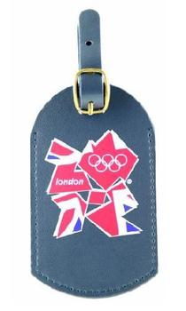 Official London 2012 Olympic Blue Leather PU Luggage Tag