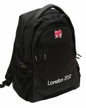 Official London 2012 Olympic logo Black Rucksack  / BackPack