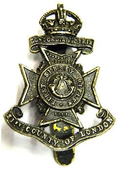 21st county of London Cap badge (first surrey rifles)