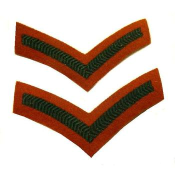 Lance Corporal Chevron Stripes pair Insignia