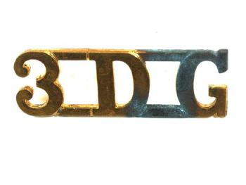 3rd Dragoon Guards Shoulder title (pair)