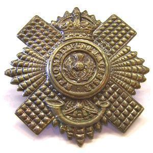 White Metal Cap badge for the 4th 5th Royal Scots
