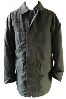 Police issue - Black Unlined longer length Waterproof Jacket with pockets, Graded
