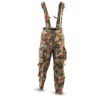 Swiss Military Alpenflage M70 Heavyweight Combat Trousers with Braces / Straps