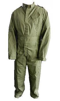 Coverall Olive green British Army Military Issue Velcro fronted With Chest Pocket, New
