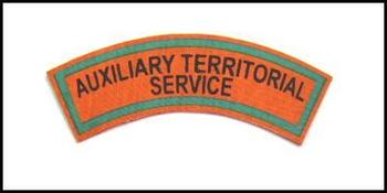 ATS Auxiliary Territorial Service Shoulder Titles