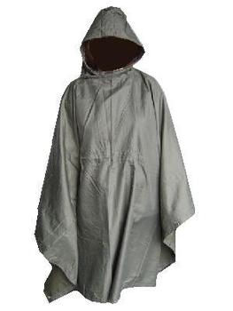 Poncho, Used Genuine Austrian Military Olive Green Poncho
