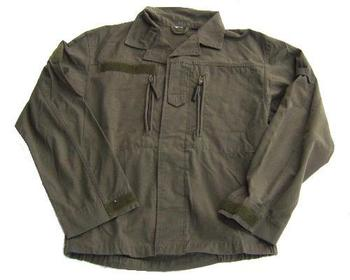 Austrian Military Rip Stop Olive Green Issue Zip pocket field shirt