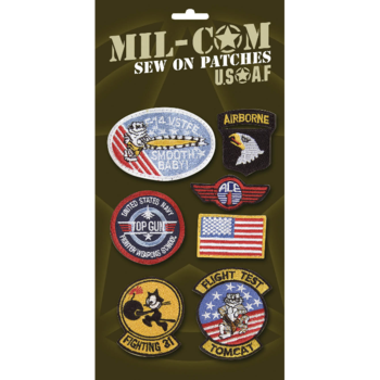 Sew on Army Badges Pack of 7 Quality Sew on US patches