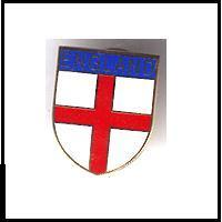 St Georges flag pin badge
