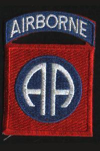 US Army WW2 82nd Airborne Division Cloth Badge