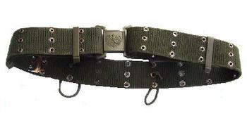 Genuine Austrian Issue Olive green combat belt with Eagle Buckle