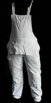 Painters Bib and Brace Overalls White cotton drill fabric ~ New