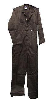 Black Zip Fronted Coverall Poly cotton Boiler Suit / Boilersuit