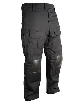 Black Special Ops Trousers, Ripstop Tactical trousers with Built in Knee Armour