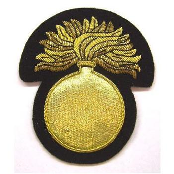 Grenadiers Grenade Blazer Badge with gold wire
