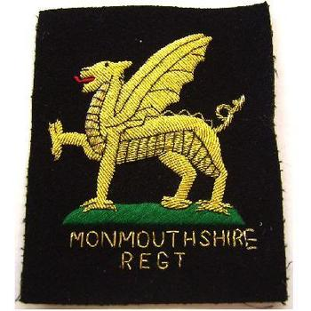 Monmothshire regimental blazer badge