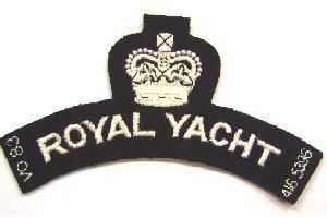 New Royal Yacht Black and white Shoulder Title