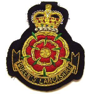 Blazer badge of the Queens Lancashire regiment
