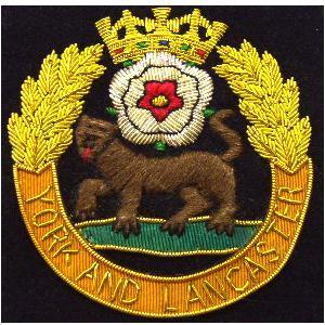 Blazer badge of the York and Lancaster regiment