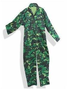 Woodland Camo Poly Cotton Boilersuits, Coverall Adult Milcom Brand Size