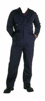Navy Blue Zip Fronted Poly/Cotton Boilersuit Upto 60 Inch chest