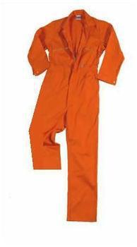 Orange Boilersuit Poly Cotton Boiler Suit, Coverall Overall