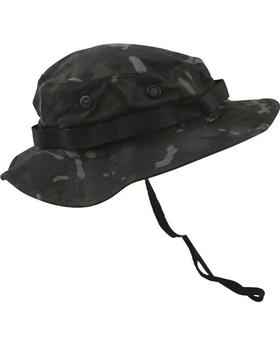 Boonie Jungle Hat Black BTP US style Dark Night Camo Ripstop Hat