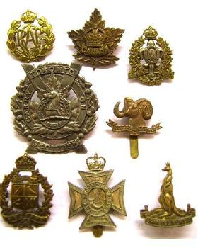 Collection of Canadian / USA Cap badges