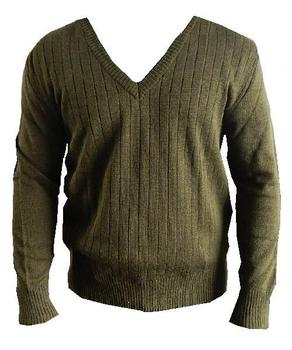 Pullover, V neck Olive Green Military Issue Jumper WWII Style, New