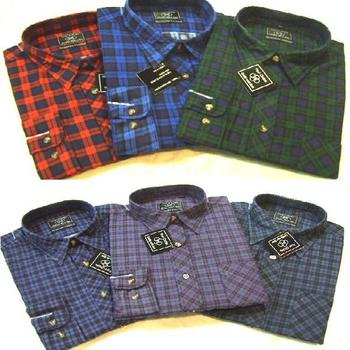 New Quality 100% Brushed Cotton Checked Shirt / shirts