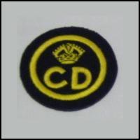 Civil Defence Cloth Badge