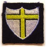 British Cloth 8th Army div sign - shield with a cross
